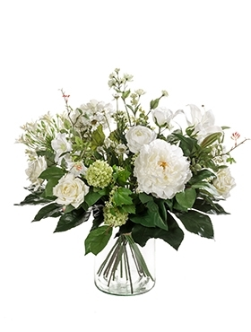 Blumenbouquet (Kunstpflanze) White Dream