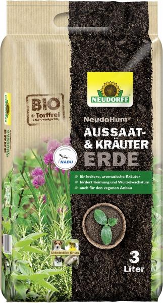 Neudorff (NeudoHum) Aussaat- und KräuterErde 3 Liter
